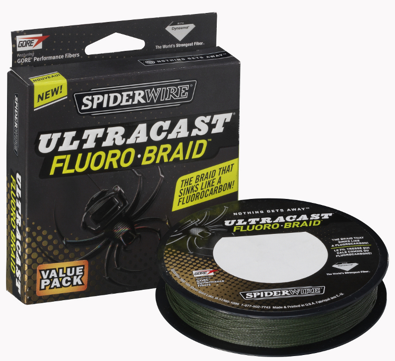 Плетеный шнур SpiderWire Ultracast Fluoro-Braid 100m, 0.28 мм