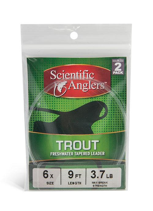 Подлесок Scientific Anglers Freshwater Tapered Leader 9' Trout 0X