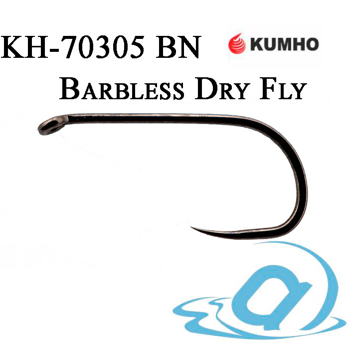 Крючки KUMHO Dry Fly Barbless KH-70305 BN (25шт.) #08