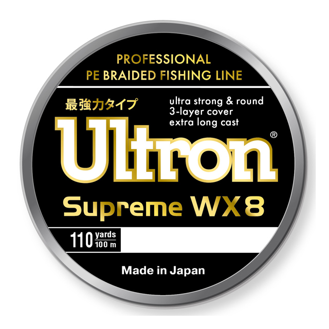 Плетеный шнур ULTRON WX8 Supreme 100м. 0.27мм