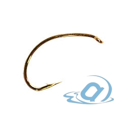 Крючки KAMASAN B100G Trout Shrimp & Buzzer Gold Fly Hook (25шт.) #10