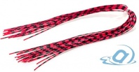 Материал для ножек Hareline Grizzly Barred Rubber Legs Medium, Neon Red