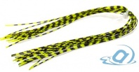 Материал для ножек Hareline Grizzly Barred Rubber Legs Medium, Fl. Chartreuse