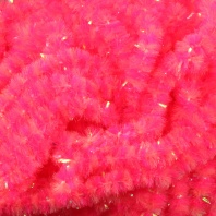 Синель Hareline Speckled Chenille Pearl/Fl.Hot Pink
