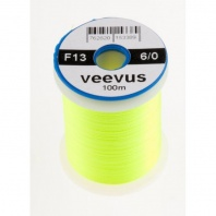 Монтажная нить Veevus Thread 6/0 Fl. Yellow Chartreuse