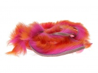 Полоски меха кролика Hareline Two Toned Rabbit Strips Hot Orange Tipped Fl.Hot Pink