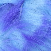 Полоски меха кролика Hareline Two Toned Rabbit Strips Bright Purple/Baby Blue