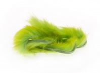 Полоски меха кролика Hareline Two Toned Rabbit Strips Chartreuse Tipped Green Chartreuse