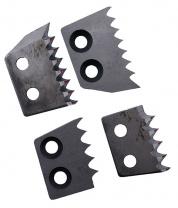 Ножи ЗВЕРЬ зубчатые для ледобуров Прямые 180мм. левого вращения