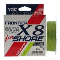 Шнур плетеный YGK Frontier Braidcord X8 for Shore 150м. Green, фото